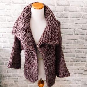 Lutz & Patmos | wool purple cardigan